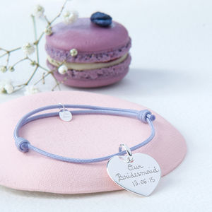 Bridesmaids' Personalised Charm Bracelet - wedding thank you gifts