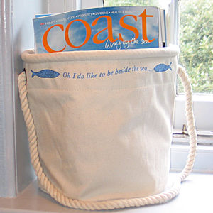 Home Storage Bag 'Oh I Do Like To Be Beside The Sea.. '