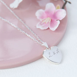 Personalised Sterling Silver Locket Necklace - necklaces