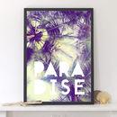'Paradise' Palm Trees Art Print