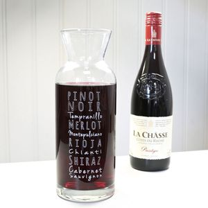 Engraved Wine Lover's Wine Carafe