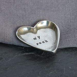 'My Rock' Pewter Trinket Dish - jewellery storage & trinket boxes