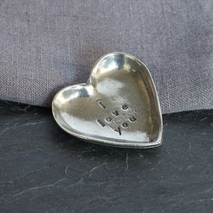 'I Love You Pewter' Trinket Dish