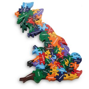Wooden Map Jigsaw - board games & puzzles