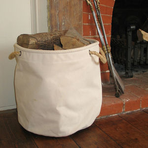 Big Canvas Log Basket - log baskets