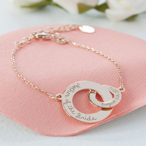 Mother Of The Bride Intertwined Chain Bracelet - thank you gifts