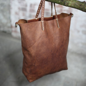 Nkuku Leather Shopper - shopper bags