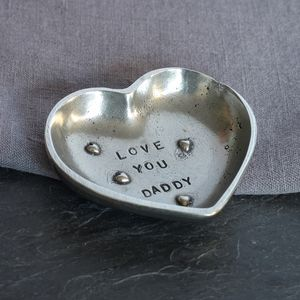 'Love You Daddy' Pewter Trinket Dish