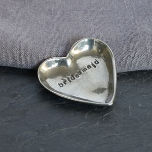'Bridesmaid' Pewter Trinket Dish