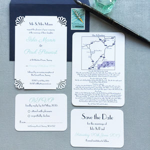 Deco Wedding Stationery - art deco wedding style
