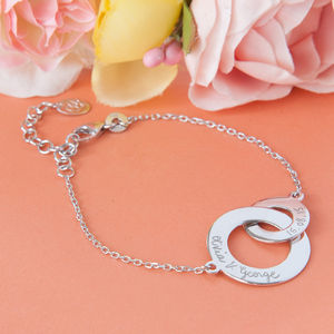 Lover's Personalised Intertwined Chain Bracelet - bracelets & bangles
