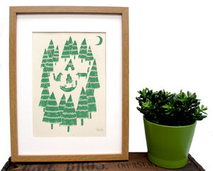 'Foxes In The Forest' Screen Print - posters & prints
