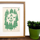 'Foxes In The Forest' Screen Print