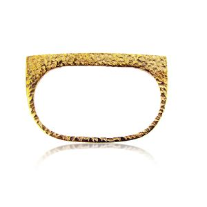 Textured Double Plate Ring - rings