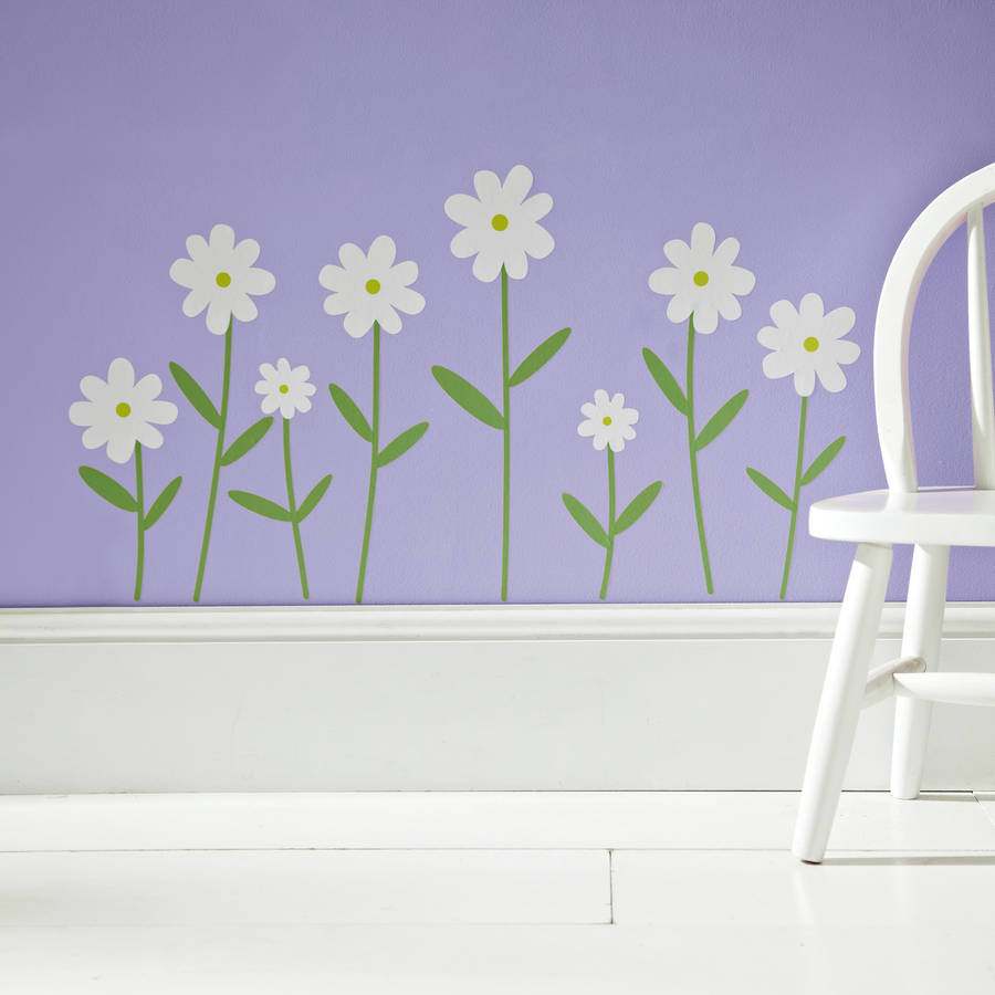 flower wall stickers white by kidscapes