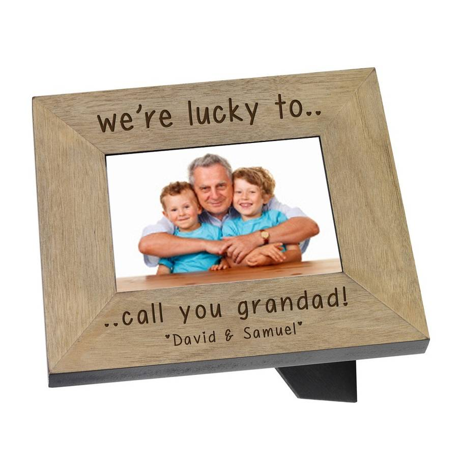 personalised photo frame for grandad by babyfish ...