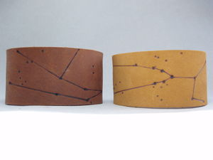 Constellation Leather Cuffs, Myths From The Gods - new in jewellery