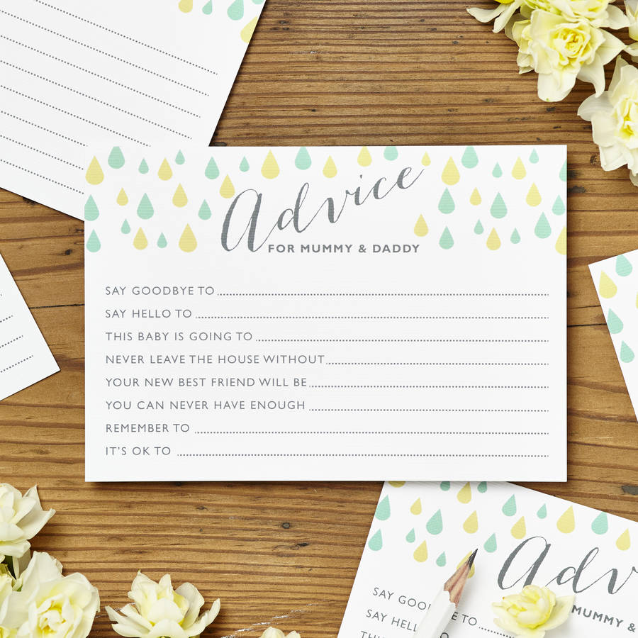 homepage intwine design baby shower advice cards pack of eight