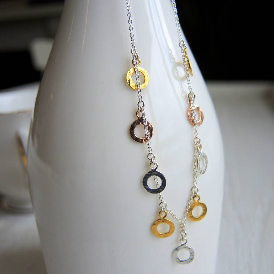 Necklace With Tiny Rings