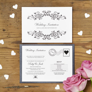 Personalised Postcard Wedding Invitation - invitations