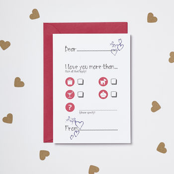 'Love You More Than…' Card