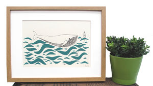'Gone Fishing' Screen Print