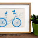 'Birds Riding A Bike' Screen Print