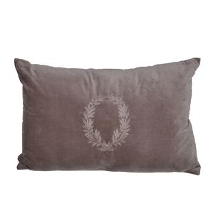 Taupe Embroidered Cushion Cover