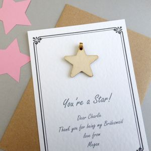 Personalised You're A Star Keepsake Gift - wedding favours