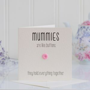 Mummy Button Card