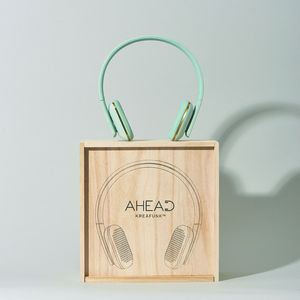 Kreafunk A Head Headphones Dusty Blue - 18th birthday gifts