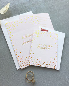 Èclat Confetti Wedding Stationery - save the date cards