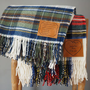 Personalised Tartan Throw - bedroom
