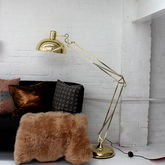 Golden Floor Lamp - home