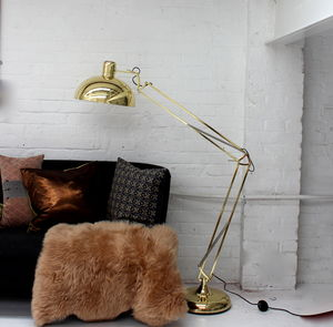 Golden Floor Lamp - bedroom