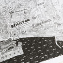 Brighton And Hove Hand Drawn Map Print