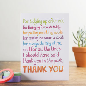 'Thank you' Card - seasonal cards