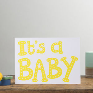 'It's A Baby' Card