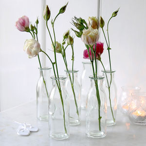 Mini Clear Bottle Vase - table decorations