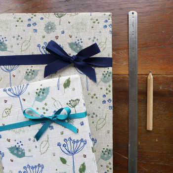 Blue Parsley Fabric Notebook