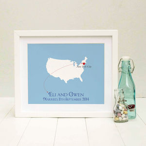 Wedding In America Personalised Print