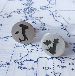 Handmade Map Cutout Cufflinks - gifts for him