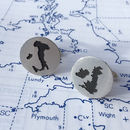 Handmade Map Cutout Cufflinks