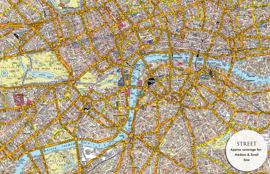 a to z canvas map london by maps international notonthehighstreetcom