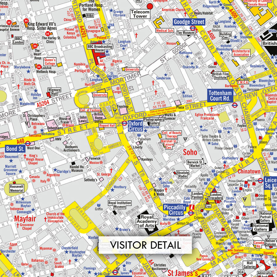 Az Street Map Of London.A To Z Canvas Map London
