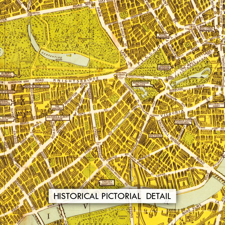 A To Z Historical Canvas Map London By Maps International - London map historical