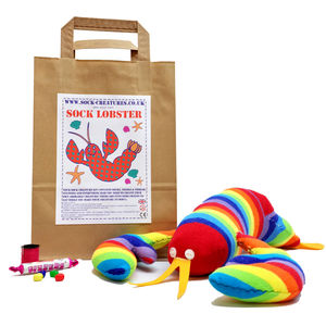 Sock Lobster Craft Kit - creative activities