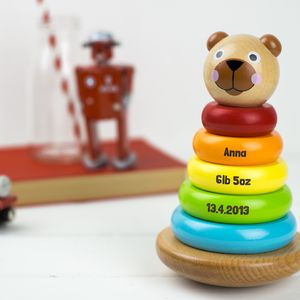 Personalised Wooden Stacking Toy - toys & games