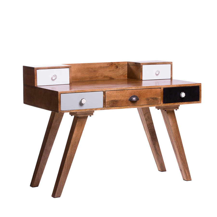 Milligan retro multi drawer desk by atkin and thyme - Retro office desk ...