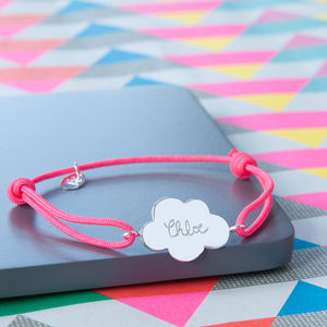 Children's Personalised Cloud Charm Bracelet - women's jewellery